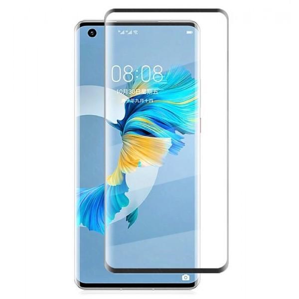 Folie de Sticla Tempered Glass Full Glue Case Friendly Curbata. NEGRU Huawei Mate 40