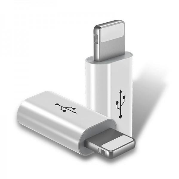 Adaptor Lighting 8 Pin / Micro USB pentru iPhone. ALB