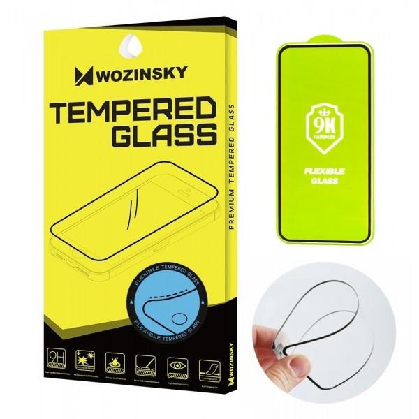Folie Sticla Flexi Nano Glass, Full Glue Acoperire Completa. NEGRU Xiaomi Redmi Note 9S