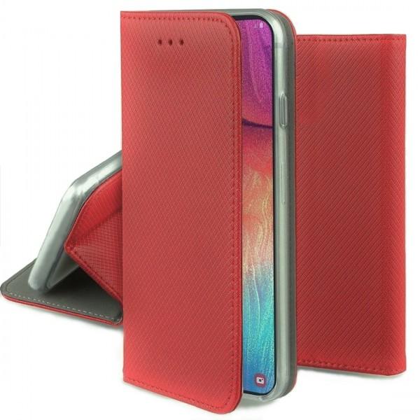 Husa Smart Magnet Tip Carte ROSU Carbon. Huawei Y3 2017