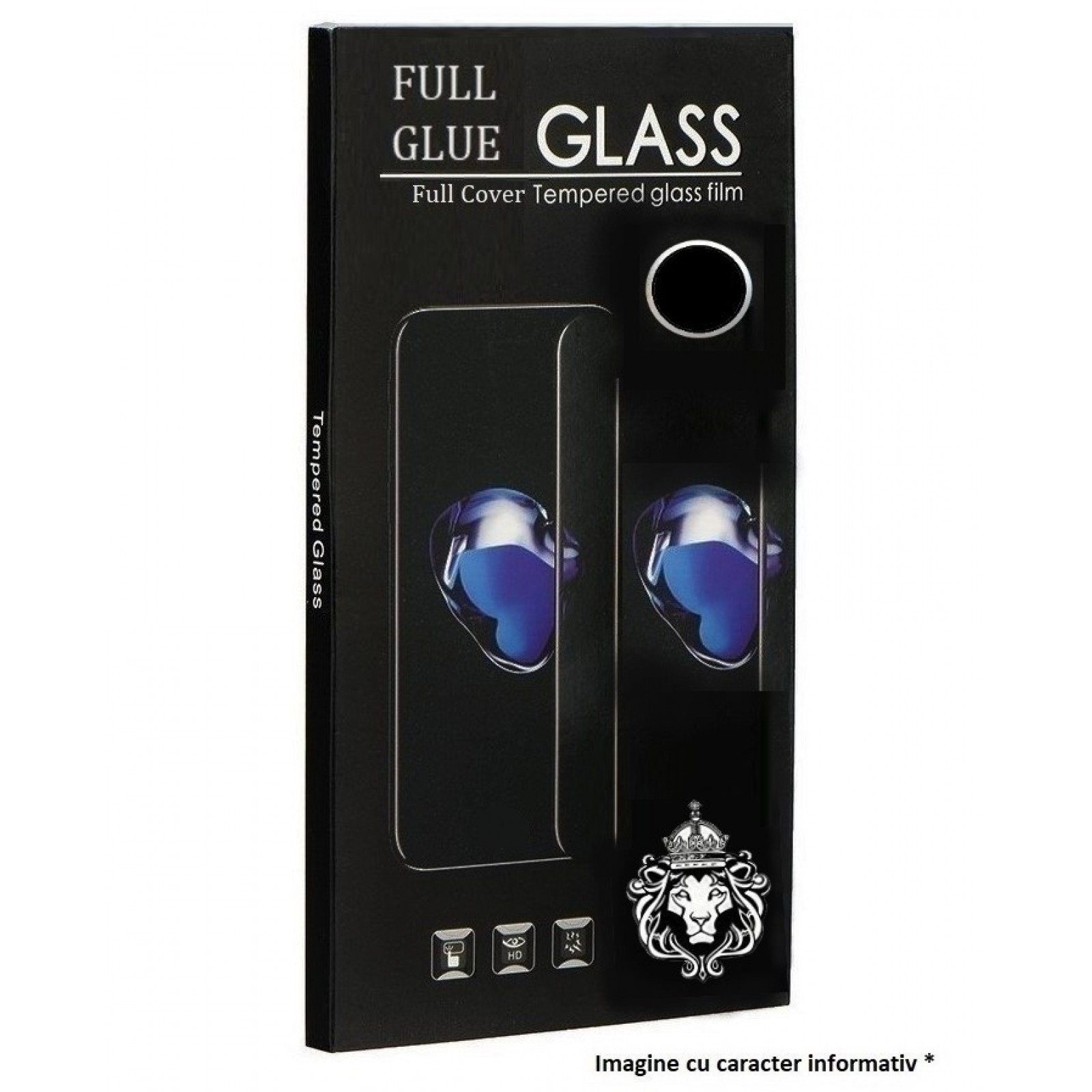 Folie de Sticla Tempered Glass Full Glue 9H Acoperire Completa. NEGRU Samsung A10e