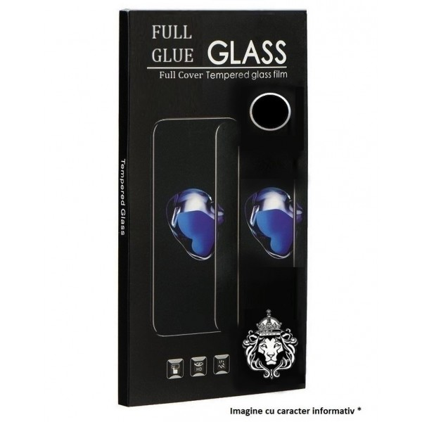 Folie de Sticla Tempered Glass Full Glue 9H Acoperire Completa. NEGRU Motorola Moto G8 Play