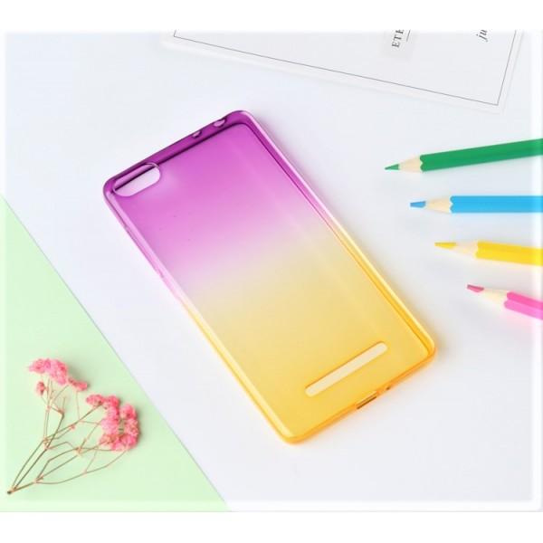 Husa de Silicon Slim TPU Gradient Color. MOV-GALBEN Xiaomi Mi4c