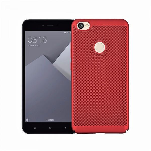 Husa Ultra Subtire Perforata Air-Breath. ROSU Xiaomi Redmi Note 5a Prime / Y1