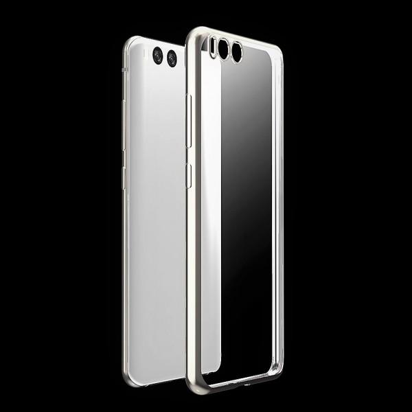 Husa de Silicon Slim TPU Plating Case. Margine Placata ARGINTIU Xiaomi Mi6